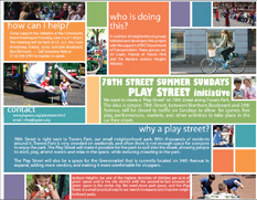 Summer Sundays 78th Street Play Street Initiative Flyer